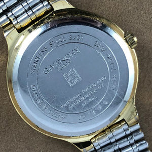 Givenchy Accessories - Vintage Givenchy Paris Blue Dial 18K GP Gold Watch